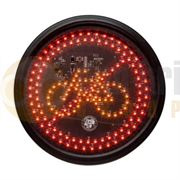 Amber Valley Circle Warning Cyclist LED Illuminated Sign - AVCSWL04