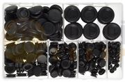 DBG 2-25mm Rubber Blanking Grommets - Assorted Pack of 280 - 1023.DB18