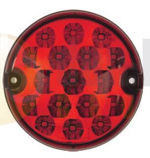 DBG Valueline LED 95mm Round STOP / TAIL Light Fly Lead 12/24V - 386.000