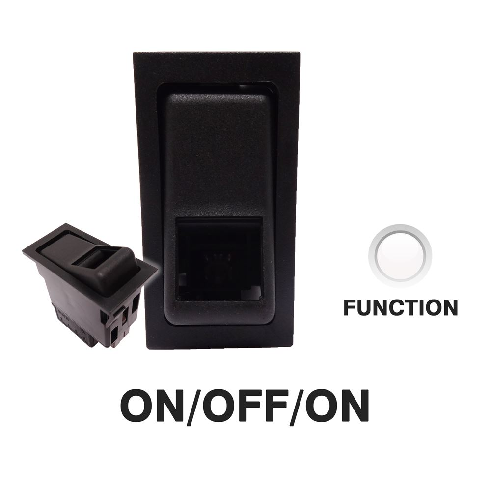 DBG 444072 SWF Style (511.072) 24V ON/OFF/ON DP Rocker Switch - BULB FUNCTION Light