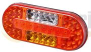 DBG COMBI I LH LED REAR COMBINATION Light with REVERSE & FOG (0.5m Fly Lead) 12/24V - 334.004