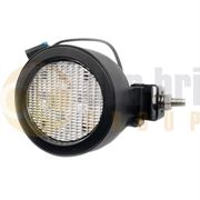 LED Global LG845 Round 3200lm 4-LED Work Light Black DT Connector 12/24V