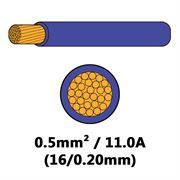 DBG Single Core Thin Wall PVC Auto Cable 0.5mm² (11.0A) - Purple