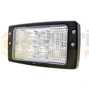 LED Global LG842 Rectangular 3200lm LED Cab Work Light H4 Connector 12/24V