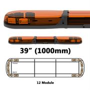 ECCO 13 Series R65 LED 12 Module Lightbar (1000mm) - Amber/Amber
