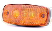 Britax L41.00.LDV LED SIDE MARKER Light with REFLECTOR (Fly Lead) 12/24V