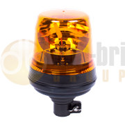 ECCO 400 Series Flexi DIN Pole Mount Bulb R65 Rotating Amber Beacon 12/24V - 404.000 / 404.001 / 404.002