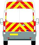 Ford Transit (2014 - Present) - BACK - Full Chevron Kit (Window Cut-Outs) - High Roof