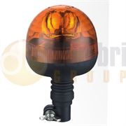 LAP Electrical RCB040A 'Agri' Flexible DIN Pole Mount AMBER BULB ROTATOR Beacon R65 12/24V