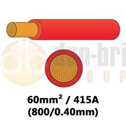 DBG PVC Flexible Battery/Starter Cable 800/0.40 60mm² 415A - RED - 10m - 540.4935F/10R
