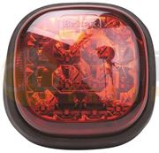 Britax L11 Series (112mm) Square LED STOP / TAIL Light (Fly Lead) 12/24V - L11.03.LDV