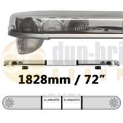 LAP Electrical LB722AC/I CLASSIC TITAN 1828mm AMBER/CLEAR 2 Module LED Lightbar with Illuminated Centre R65 12/24V