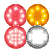 LED Autolamps 82 Series (80mm) Round LED Signal Lights