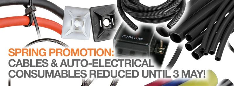SPRING PROMOTION - offers on cable and auto-electrical consumables, only until 3 May…