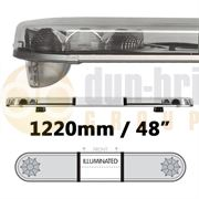 LAP Electrical LB482AC/I CLASSIC TITAN 1220mm AMBER/CLEAR 2 Module LED Lightbar with Illuminated Centre R65 12/24V