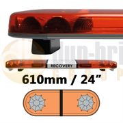 LAP Electrical LB242WA/MAG CLASSIC TITAN 610mm AMBER/AMBER 2 Module LED Lightbar with Magnetic Mount R65 12/24V