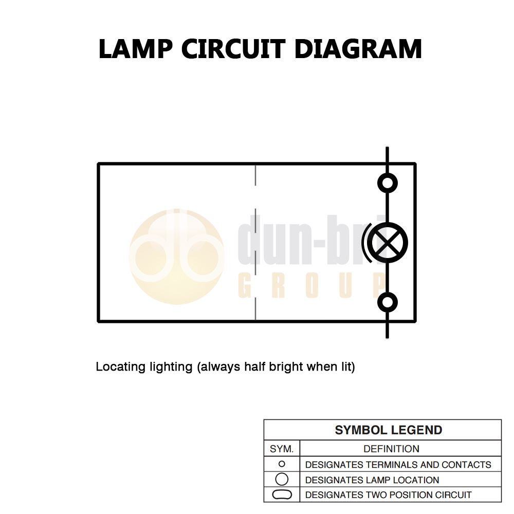 DBG 444058 SWF Style (511.058) 12V (ON)/OFF/(ON) DP Rocker - BULB LOCATION Light