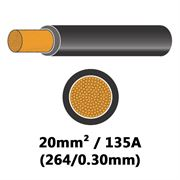 DBG PVC Flexible Battery/Starter Cable 264/0.30 20mm² 135A - BLACK