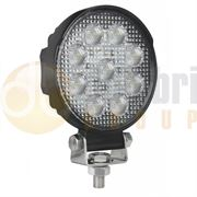 LED Autolamps 10715 Round 9-LED 1210lm Work Flood Light 12/24V - 10715BM