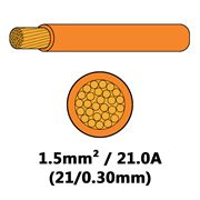 DBG Single Core Thin Wall PVC Auto Cable 1.5mm² (21.0A) - Orange