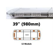 ECCO 15L Series R65 LED 12 Module Lightbar (980mm) - Amber