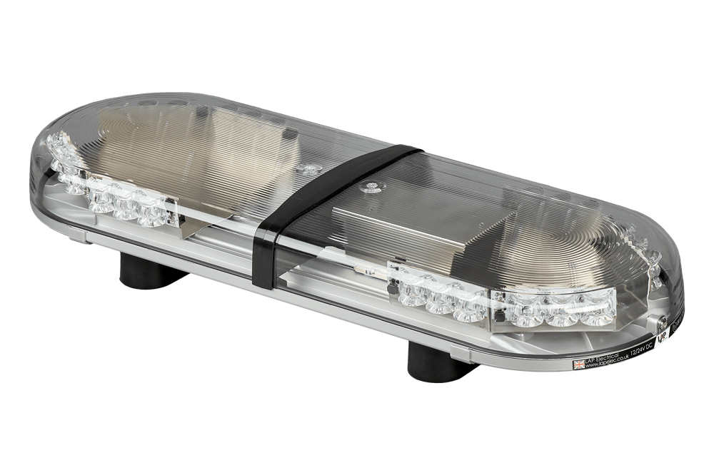 LAP Electrical HURRICANE TITAN 610mm AMBER 8 Module LED Lightbar with Magnetic Mount R65 12/24V