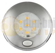 LED Autolamps 79 Series (Switched) 6-LED Round Interior Light Chrome (79mm) 12V - 70 Lumens - 79CWR12