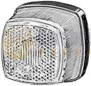 Hella 2PG 003 057-061 Bulb Front Marker Light with Reflector (Black Base) 12/24V - 2PG 003 057-061