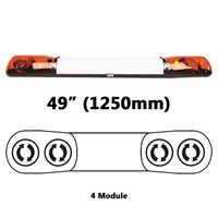 ECCO/Britax A6154.200.24V A6 Series 1250mm AMBER 4 Module ROTATOR Lightbar with Illuminated Centre R65 24V
