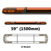 ECCO 13 Series R65 LED 16 Module Lightbar (1500mm) - Amber/Amber