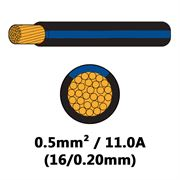 DBG Single Core Thin Wall PVC Auto Cable 0.5mm² - Black/Blue