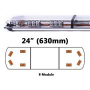 ECCO 65-00001-V 65 Series 630mm AMBER/CLEAR 8 Module LED Lightbar R65 12/24V