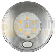 LED Autolamps 79 Series (Switched) 6-LED Round Interior Light Silver (79mm) 12V - 70 Lumens - 79SWR12