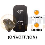 Carling 273.664 V-SERIES CONTURA V Rocker Switch 12V (ON)/OFF/(ON) DP 2xLEDs AMBER/AMBER with DRIVE/UP and LOWER Legends