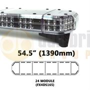 Redtronic FX4DS165AC Double-Stack DSFX 1390mm AMBER/CLEAR 48 Module LED Lightbar R65 12/24V