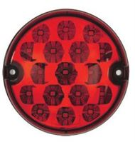 DBG 386.003 Valueline Round 95mm LED REAR FOG Light Fly Lead 12/24V
