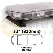 Redtronic SB182SA0CC SPARTAN FX 820mm AMBER/CLEAR 8 Module LED Lightbar R65 12/24V