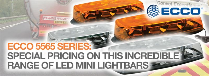 ECCO 5565 Series LED mini lightbars, now on special offer