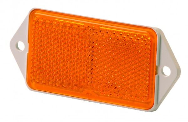Rubbolite M78 Amber Rectangle Side Reflector
