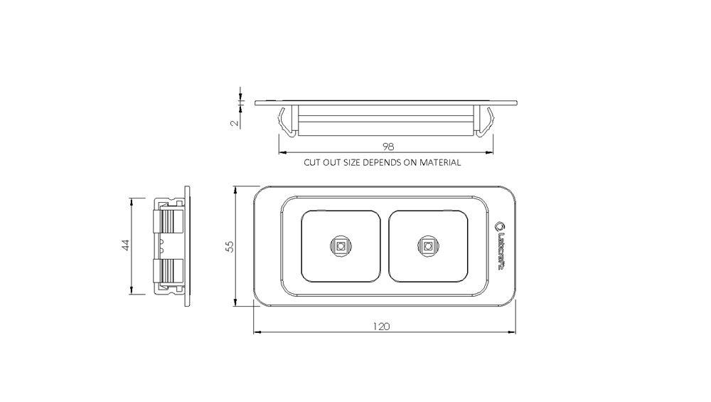 labcraft novalux recessed led interior light 2 7w 354 lumens dun bri services ltd. Black Bedroom Furniture Sets. Home Design Ideas