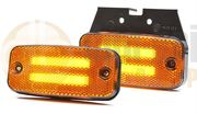 WAS W158 Series LED SIDE MARKER / CAT 5 INDICATOR Light with REFLECTOR Fly Lead 12/24V - 1137