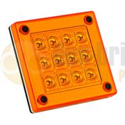 LED Autolamps 280 Series (90mm) Square LED INDICATOR Light Fly Lead 12/24V - 280AM