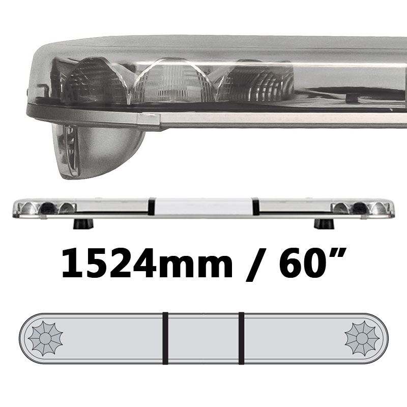 LAP Electrical LB602AC CLASSIC TITAN 1524mm AMBER/CLEAR 2 Module LED Lightbar R65 12/24V