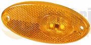 Hella 2PS 964 295-071 LED Side Marker Light with Reflector (Self Adhesive / 0.5m Fly Lead) 24V - 2PS 964 295-071