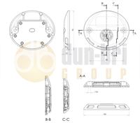 1126 WAS W151 LED Tail Lift Marker Lamp Technical Drawing