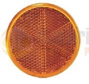 DBG Self-Adhesive Round Amber Side Reflector (Pack of 10)