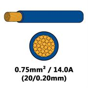 DBG Single Core Thin Wall PVC Auto Cable 0.75mm² (14.0A) - Blue