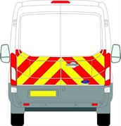 Ford Transit (2014 - Present) - BACK - Half Chevron Kit - All Roof Types