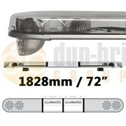 LAP Electrical LB724AC/I CLASSIC TITAN 1828mm AMBER/CLEAR 4 Module LED Lightbar with Illuminated Centre R65 12/24V