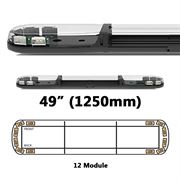 ECCO 13 Series R65 LED 12 Module Lightbar (1250mm) - Amber/Clear